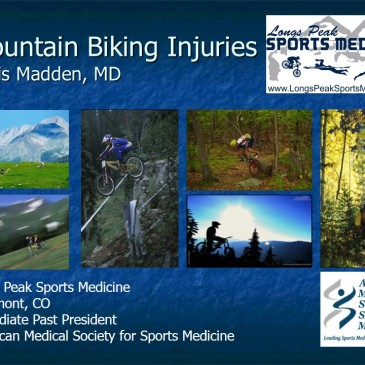 #MountainBiking Injuries lecture presented by Madden at #ACSM in San Diego